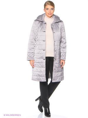 Утепленное пальто MONTSERRAT. Цвет: серо-коричневый