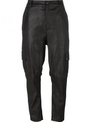 Укороченные брюки Drome. Цвет: чёрный