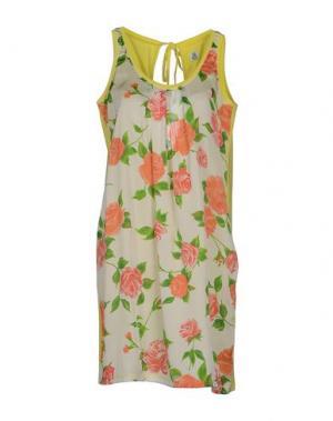 Короткое платье COOPERATIVA PESCATORI POSILLIPO. Цвет: желтый