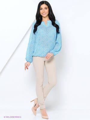 Блузка Samirini. Цвет: голубой, белый