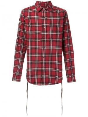 Lace detail plaid shirt Amiri. Цвет: красный