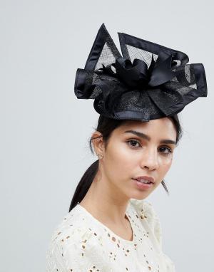 Elegance Черная вуалетка. Цвет: черный