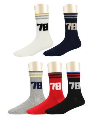 Носки спортивные -комплект 5 пар Glamuriki. Цвет: черный, белый, красный