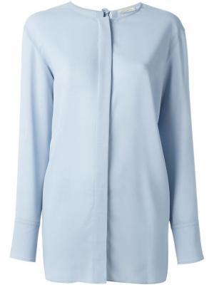 Рубашка без воротника Nina Ricci. Цвет: синий