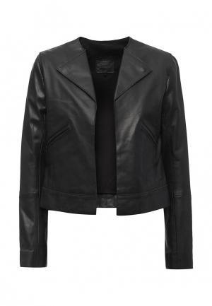 Куртка кожаная Sinequanone. Цвет: черный