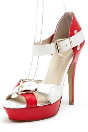Босоножки на каблуках Rosa rot. Цвет: белый