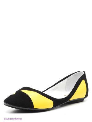 Балетки Vitacci. Цвет: черный, желтый