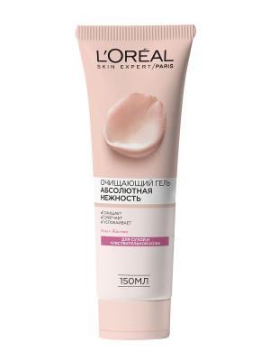 Очищающий гель для лица  Абсолютная Нежность , сухой и чувствительной кожи, 150 мл L'Oreal Paris. Цвет: белый
