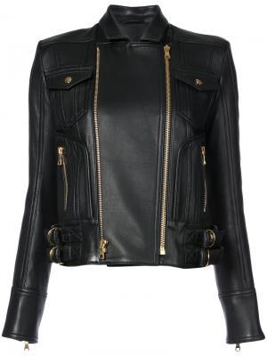Байкерская куртка Balmain. Цвет: чёрный
