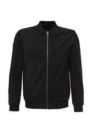 Куртка кожаная Produkt. Цвет: черный