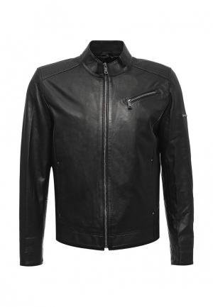 Куртка кожаная Jimmy Sanders. Цвет: черный