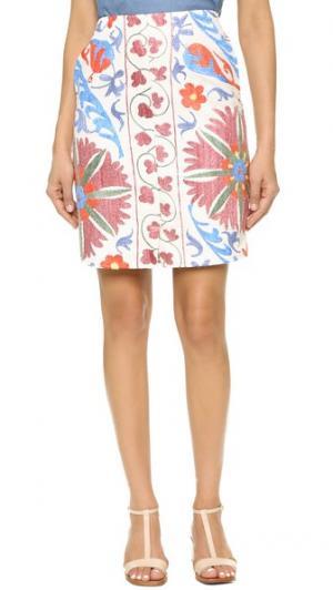 Короткая юбка Uzbek All Things Mochi. Цвет: бежевый/розовый