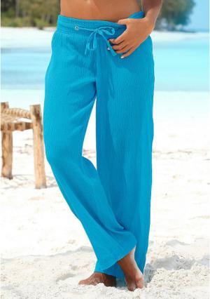 Пляжные брюки. Цвет: бирюзовый