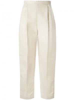 Укороченные брюки Delpozo. Цвет: телесный