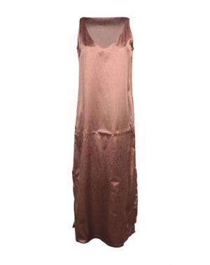 Длинное платье EUROPEAN CULTURE. Цвет: светло-коричневый