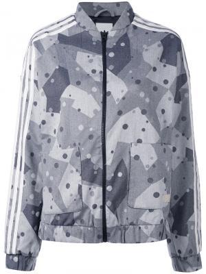 Спортивная куртка с графическим принтом Adidas Originals. Цвет: чёрный