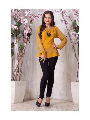 Блуза LIORA. Цвет: желтый