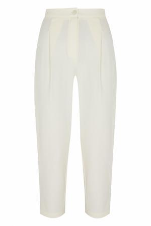 Хлопковые брюки MoS. Цвет: молочный