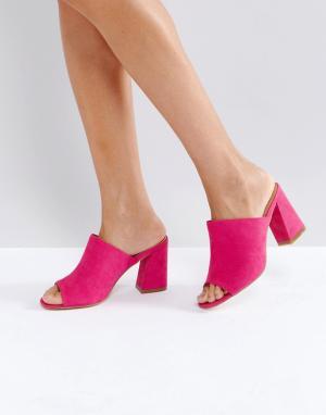 Truffle Collection Мюли на каблуке. Цвет: розовый