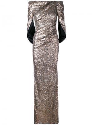 Вечернее платье Konica Talbot Runhof. Цвет: металлический