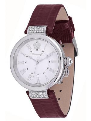 Часы наручные Romanoff. Цвет: бордовый, белый, серебристый