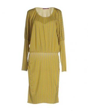 Платье до колена MILA SCHÖN CONCEPT. Цвет: желтый