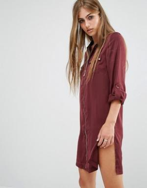 Rock & Religion Платье-рубашка Jenny. Цвет: красный