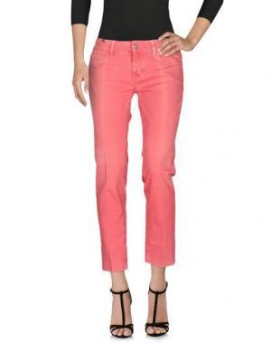 Джинсовые брюки NOTIFY. Цвет: коралловый