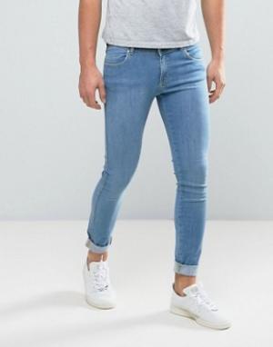 Dr Denim Голубые джинсы Dixy. Цвет: синий