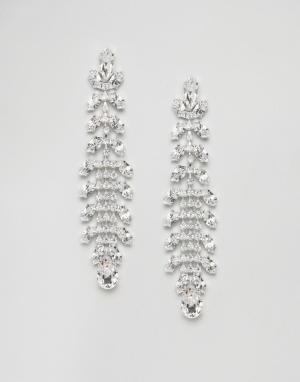 Krystal London Серьги-подвески с кристаллами Swarovski от. Цвет: серебряный