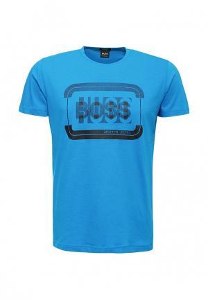 Футболка Boss Hugo. Цвет: синий