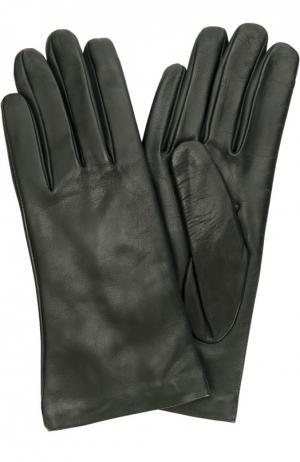 Кожаные перчатки с подкладкой из кашемира Sermoneta Gloves. Цвет: темно-зеленый