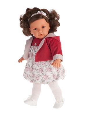 Кукла Аделина в красном, 55см Antonio Juan. Цвет: темно-красный