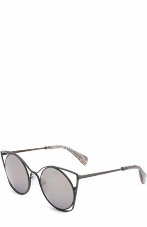 Солнцезащитные очки Yohji Yamamoto. Цвет: черный