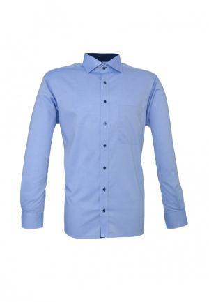 Рубашка Eterna. Цвет: голубой