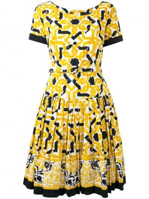 Платье Fresia Samantha Sung. Цвет: жёлтый и оранжевый