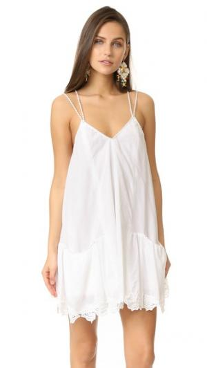 Короткое платье Miranda OndadeMar. Цвет: белый
