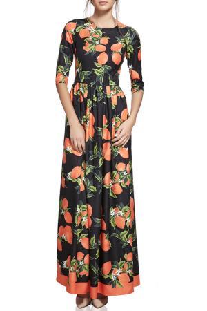 Длинное платье с принтом Nothing but Love. Цвет: черный, красный, авокадо
