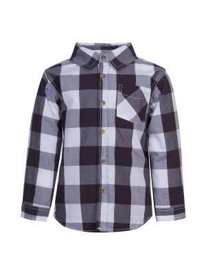 Рубашка длинный рукав для мальчиков FOX. Цвет: темно-серый