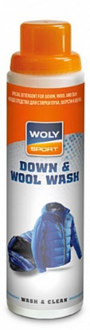 Моющее средство для стирки пуха, шерсти и шелка  Sport Down & Wool Wash, 250 мл Woly