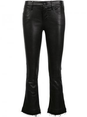 Укороченные расклешенные брюки Rta. Цвет: чёрный