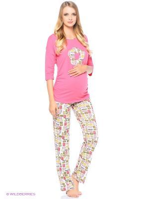 Домашний костюм для беременных FEST. Цвет: бледно-розовый, розовый