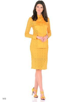 Рубашка Xarizmas. Цвет: желтый