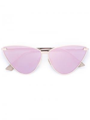 Tinted cat eye sunglasses Le Specs. Цвет: металлический