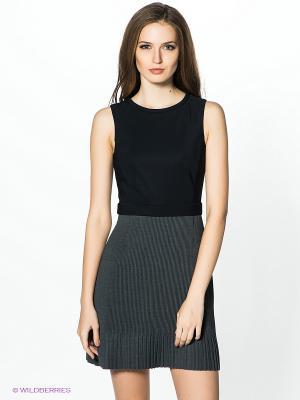 Платье PINKO. Цвет: серый, черный
