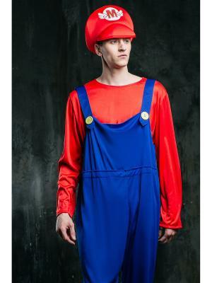 Костюм Супер Марио La Mascarade. Цвет: синий, белый, красный