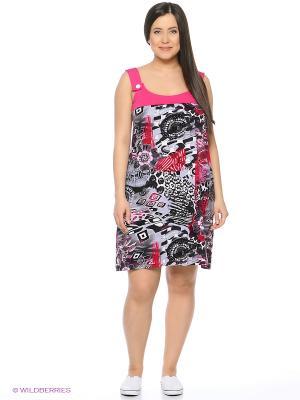 Сарафан Mojo Collection. Цвет: розовый, черный, серый