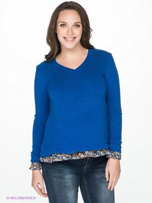 Пуловер для беременных 40 недель. Цвет: синий