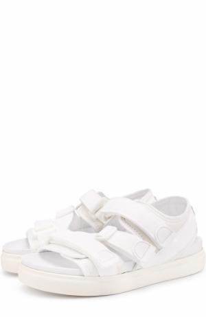Текстильные сандалии с ремешками No. 21. Цвет: белый