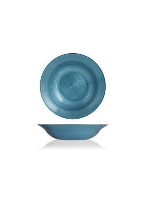 Набор глубоких тарелок бирюзовых, 6 шт. H&H. Цвет: бирюзовый